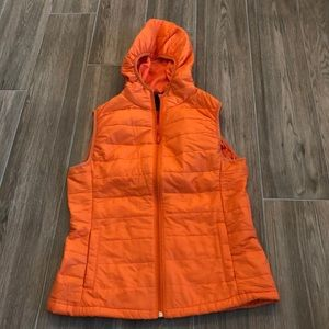 Orange vest with a hoodie!